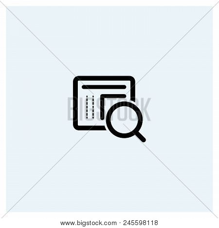 Document Search Icon Vector Icon On White Background. Document Search Icon Modern Icon For Graphic A