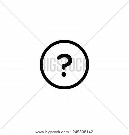 Question Mark Vector Icon On White Background. Question Mark Modern Icon For Graphic And Web Design.
