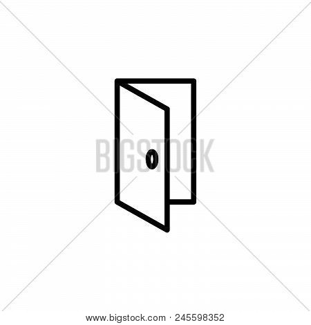 Open Door Vector Icon On White Background. Open Door Modern Icon For Graphic And Web Design. Open Do