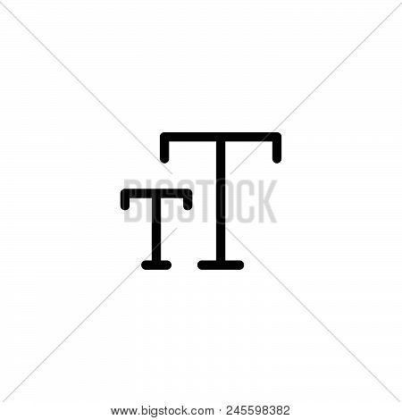 Text Vector Icon On White Background. Text Modern Icon For Graphic And Web Design. Text Icon Sign Fo