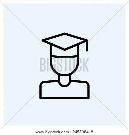 Student Icon Vector Icon On White Background. Student Icon Modern Icon For Graphic And Web Design. S