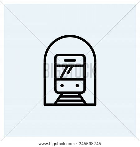 Subway Icon Vector Icon On White Background. Subway Icon Modern Icon For Graphic And Web Design. Sub