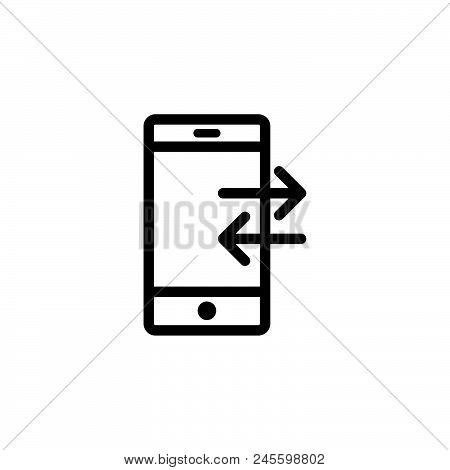 Mobile Transfer Vector Icon On White Background. Mobile Transfer Modern Icon For Graphic And Web Des