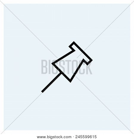 Pin Icon Vector Icon On White Background. Pin Icon Modern Icon For Graphic And Web Design. Pin Icon