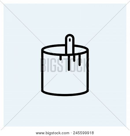 Paint Bucket Icon Vector Icon On White Background. Paint Bucket Icon Modern Icon For Graphic And Web