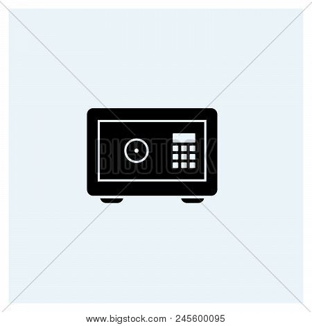 Money Safe Icon Vector Icon On White Background. Money Safe Icon Modern Icon For Graphic And Web Des