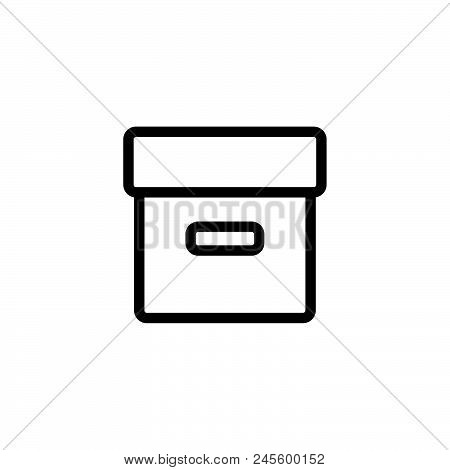 Box Vector Icon On White Background. Box Modern Icon For Graphic And Web Design. Box Icon Sign For L