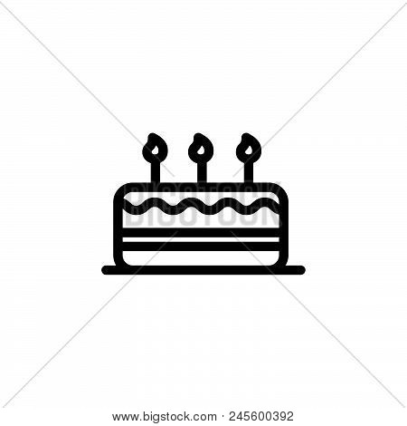 Birthday Vector Icon On White Background. Birthday Modern Icon For Graphic And Web Design. Birthday