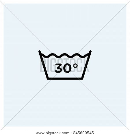 30 Degrees Wash Icon Vector Icon On White Background. 30 Degrees Wash Icon Modern Icon For Graphic A