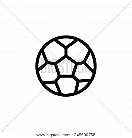 Soccer Ball Vector Icon On White Background. Soccer Ball Modern Icon For Graphic And Web Design. Soc