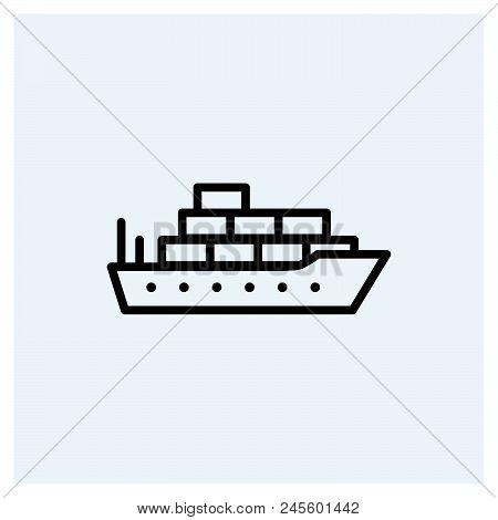 Cargo Ship Icon Vector Icon On White Background. Cargo Ship Icon Modern Icon For Graphic And Web Des