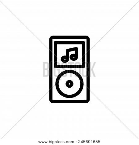 Music Player Vector Icon On White Background. Music Player Modern Icon For Graphic And Web Design. M
