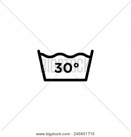 30 Degree Water Vector Icon On White Background. 30 Degree Water Modern Icon For Graphic And Web Des
