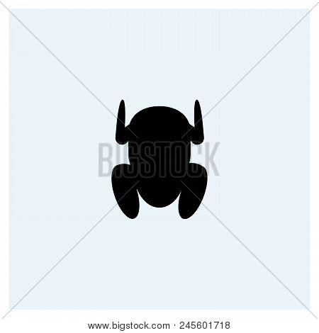 Chicken Icon Vector Icon On White Background. Chicken Icon Modern Icon For Graphic And Web Design. C