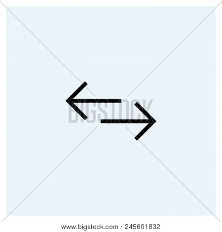 Left And Right Icon Vector Icon On White Background. Left And Right Icon Modern Icon For Graphic And