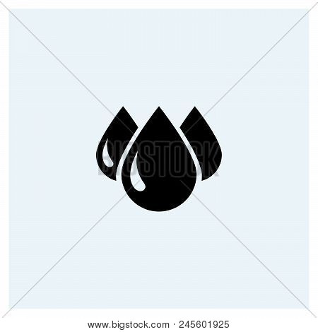 Drops Icon Vector Icon On White Background. Drops Icon Modern Icon For Graphic And Web Design. Drops
