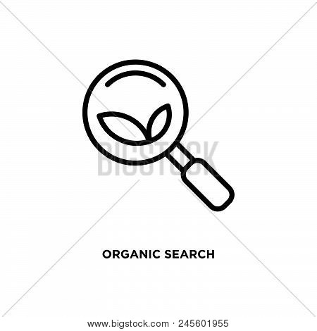 Organic Search Vector Icon On White Background. Organic Search Modern Icon For Graphic And Web Desig