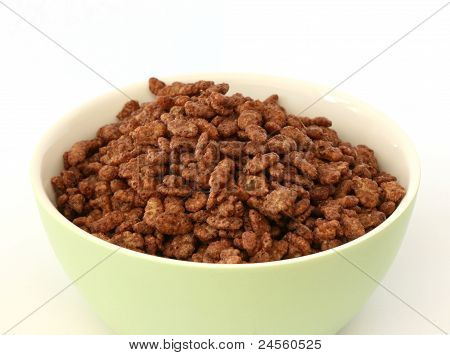 Chocolate popped rice cereals