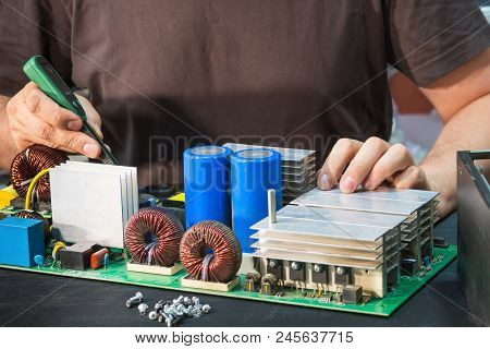 Repair Of A Powerful Power Supply Unit, Fault Diagnosis By Measuring Devices