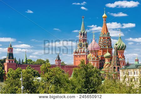 St Basil's Cathedral And Moscow Kremlin, Russia