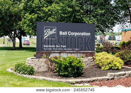 Monticello - Circa June 2018: Ball Corporation Metal Packaging Division. Ball Provides More Beverage