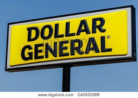 Logansport - Circa June 2018: Dollar General Retail Location. Dollar General Is A Small-box Discount
