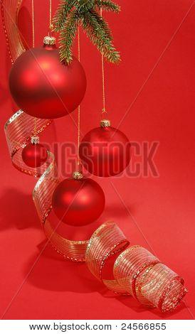 Red Christmas glass balls