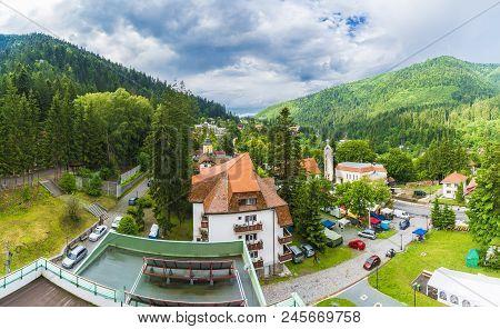 Panoramic View Of Tusnad City, Transylvania, Romania