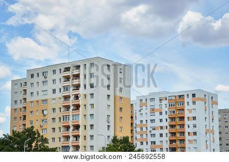 Residential building block with many flats