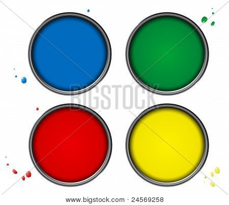 Four color piant cans