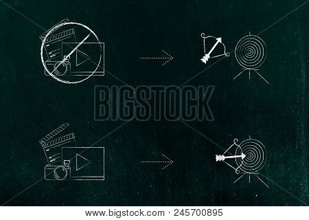 Successful Or Unsuccessful Marketing For Yout Target Market Conceptual Illustration: Barred Social M