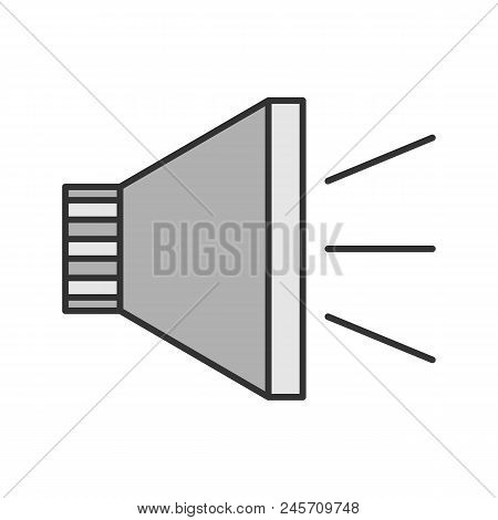 Megaphone Color Icon. Announcement. Bullhorn. Isolated Vector Illustration