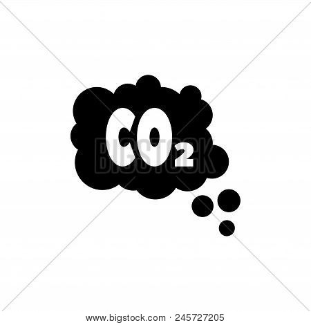 CO2 Emissions Cloud, Smog Pollution. Flat Vector Icon illustration. Simple black symbol on white background. CO2 Emissions Cloud, Smog Pollution sign design template for web and mobile UI element poster