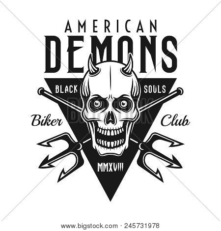 Skull Horns Two Vector Photo Free Trial Bigstock
