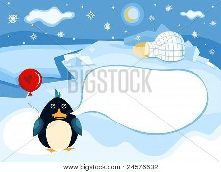 vector illustration of a north pole background poster