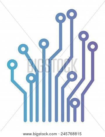 Circuit Electric Lines Icon Vector Illustration Design