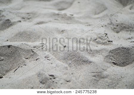 Sand. Small Dunes On The Beach In Alimini. The Italian Coast Of The Adriatic Sea.