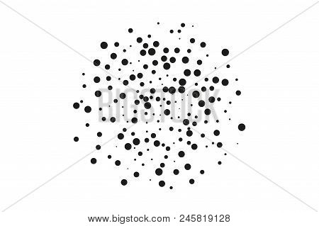 Splatter Background. Black Glitter Blow Explosion And Splats On White. Grainy Grunge Abstract Textur