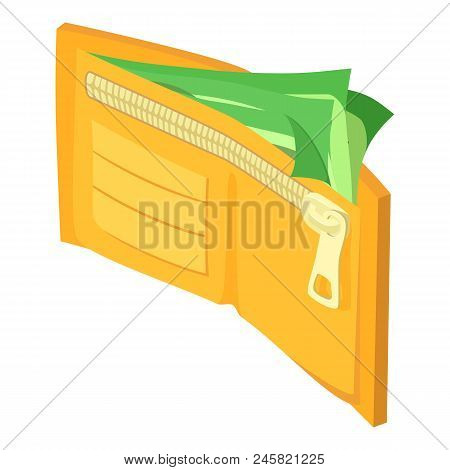 Wallet Dollar Icon. Isometric Of Wallet Dollar Vector Icon For Web Design Isolated On White Backgrou