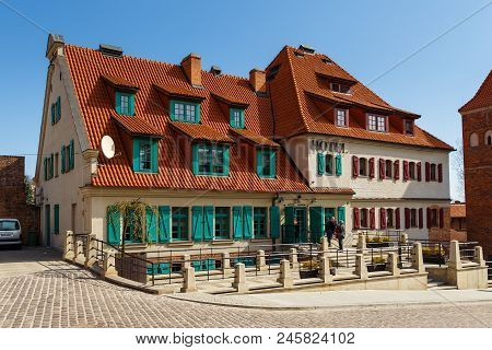 Torun, Poland - 05 April, 2014: Hotel 1231 Is Located Within The Old Town Complex. The Medieval Old