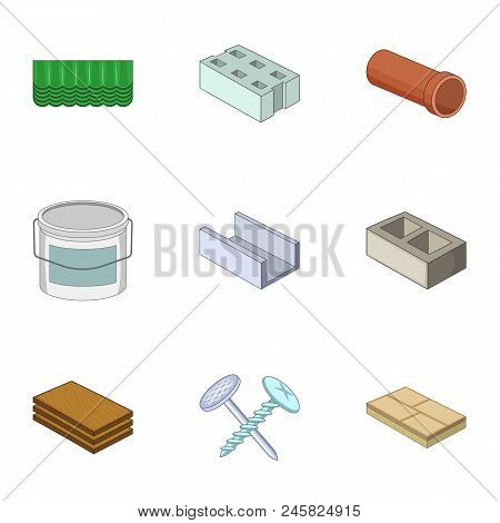 Rack Icons Set. Cartoon Set Of 9 Rack Vector Icons For Web Isolated On White Background