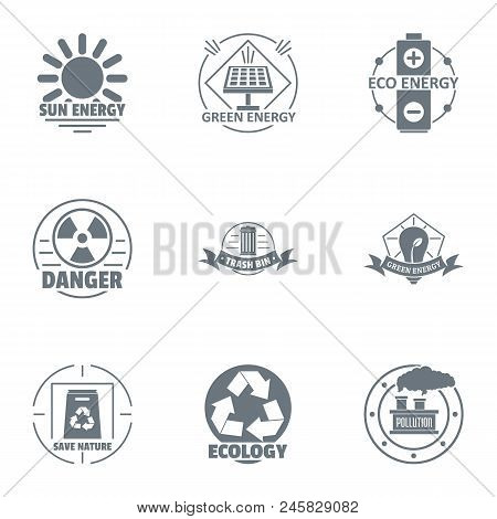 Jeopardy Logo Set. Simple Set Of 9 Jeopardy Vector Logo For Web Isolated On White Background