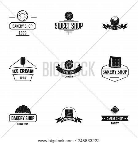 Breadmaking Logo Set. Simple Set Of 9 Breadmaking Vector Logo For Web Isolated On White Background