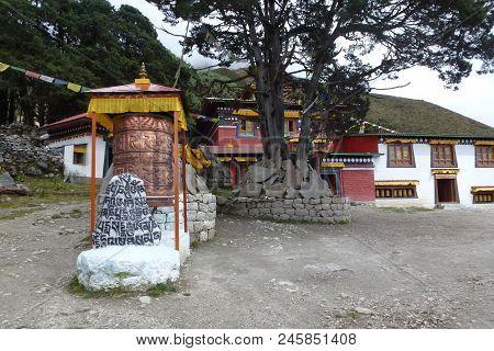 The Entrance Of The Khumjung Gompa, Everest Base Camp Trek, Nepal
