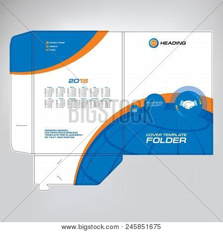 Business folder vector photo free trial bigstock business folder design cover template layout for of text and photos the universal wajeb Choice Image