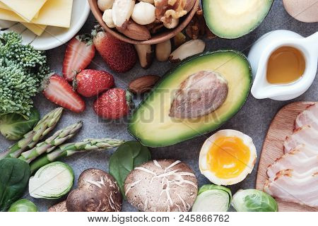 Keto, Ketogenic diet, low carb, healthy food poster