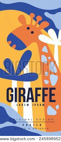 Graffe Birds And Animals Poster Original Design, Can Be Used For Banner, Greeting Card, Baby Shower,