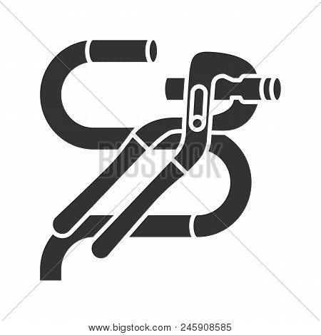 Tongue And Groove Pliers Cutting Wire Glyph Icon. Jaw Capacity. Silhouette Symbol. Negative Space. V