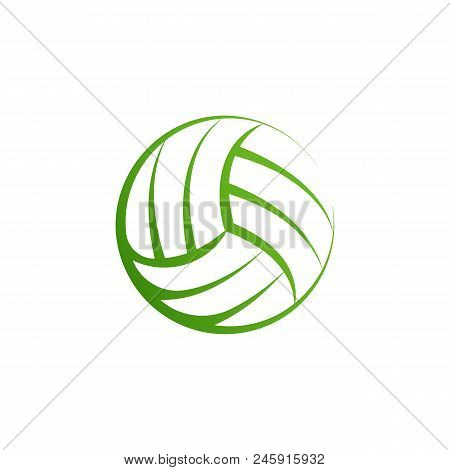 Volleyball Logo Element, Vector Volley Ball Icon, Isolated Sport Sign Template. Summer Beach Valleyb