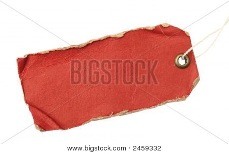 Grunge Red Tag